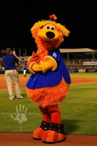 Orbit the Isotope mascot doing his thang. Be jealous.