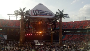 The view from one of the many WrestleManias I've attended.