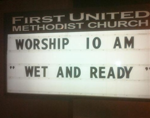 I guess it's time for a baptism.